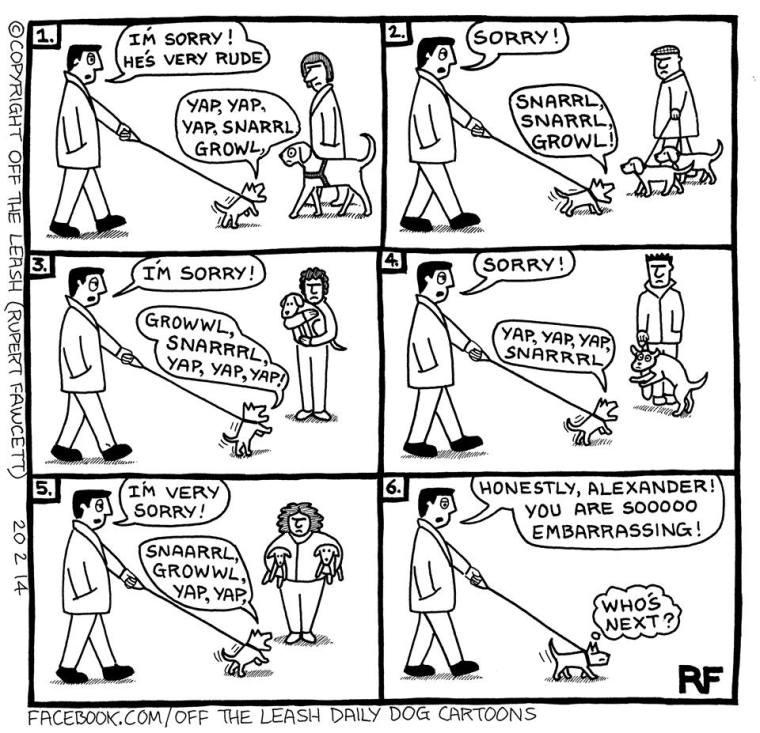 off the leash cartoon
